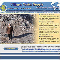 Website for clean water projects in Central Asia, Africa & other developing regions.
