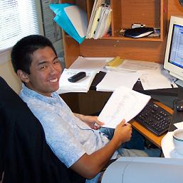CLICK HERE to see Masahiro getting out from behind the desk into the Kirton Ranch field site.